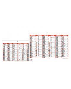 LIST - calendari semestrali a tabella