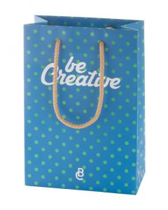 CREASHOP S - borsa shopper in carta con manico in polipropilene