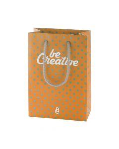 CREASHOP M - borsa shopper in carta con manico in polipropilene