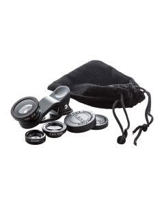 OPTIX - kit obiettivo smartphone con 3 lenti e custodia