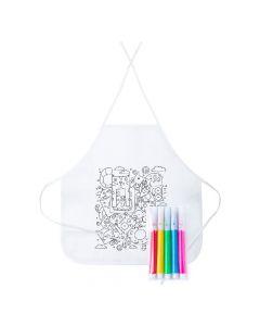 TIZY - grembiule da bambini da colorare
