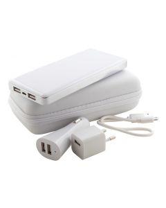 ATAZZI - usb power bank con caricabatterie per auto e ac