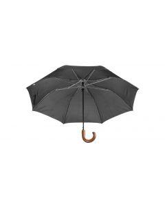 STANSED - ombrello pieghevole con manico in legno