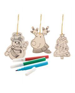 ANDOYA - ornamenti da colorare per l'albero di natale, 3pz