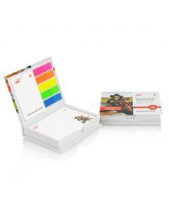 NOTE BOX - set di foglietti e adesivi POST IT con scatolina