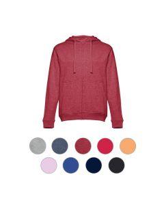 THC AMSTERDAM - Felpa da uomo, con zip e cappuccio