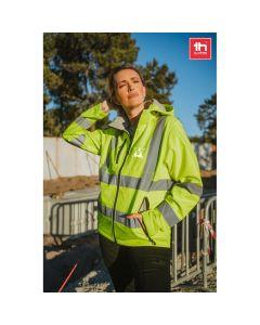 THC ZAGREB WORK - Giacca softshell ad alta visibilità da uomo, con cappuccio rimovibile